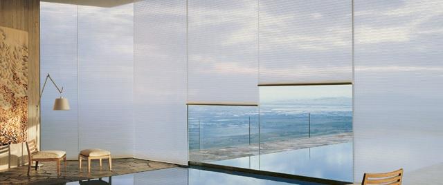 Cam balkonlar için perde sistemleri